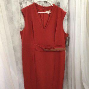 Eva Mendes Sleeveless Pleated Front Dress